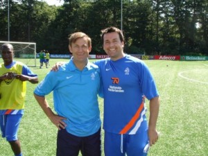 Russell Hullett with new Manchester United FC 1st team goalkeeping coach Frans Hoek in Holland at the national academy